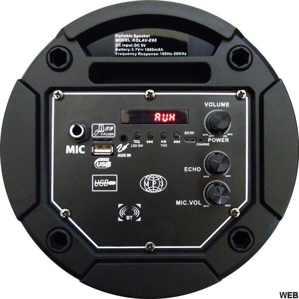 """Cassa acustica Amplificata Attiva 2x 6.5"""" a Batteria Ricaricabile Effetti LED Bluetooth/SD/USB/Radio"""