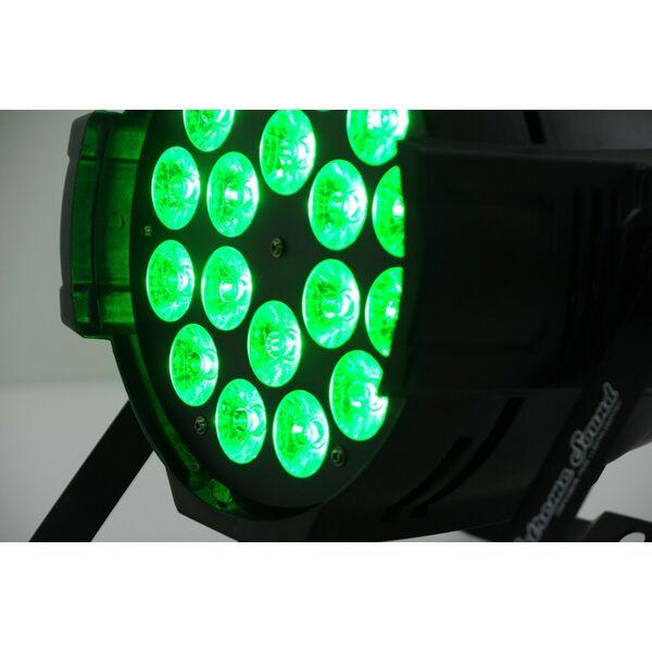 PAR LED RGBW 18x10 WATT FULL COLOR PROFESSIONALE DMX PROGRAMMABILE EXTREME SOUND
