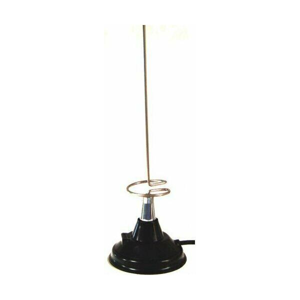 Lemm AT-309 Antenna veicolare VHF UHF 144 430 Mhz con base magnetica attacco PL
