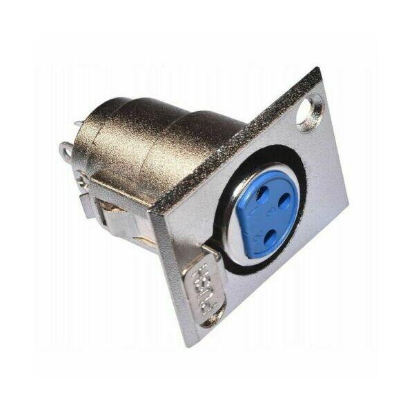 Connettore Spina Jack Cannon XLR Femmina in metallo 3 poli a saldare da Pannello