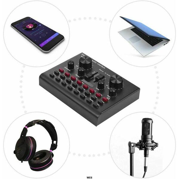 Sound Card V8S Scheda Audio Live Regolabile