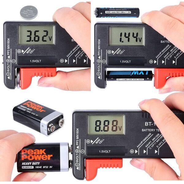 Tester pile per tutti i tipi di batteria